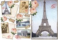 Бумага рисовая для декупажа Париж. Открытки