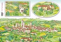 Бумага рисовая для декупажа «Тосканская деревня»