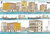Бумага рисовая для декупажа «Венеция»