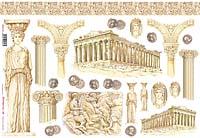 Бумага рисовая для декупажа «Древняя Греция»