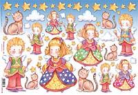 Бумага рисовая для декупажа «Дети,ангелы и коты»