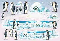 Бумага рисовая для декупажа «Пингвины»