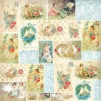 Салфетка рисовая для декупажа «Ретро открытки»
