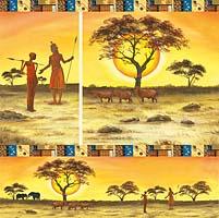 Салфетка рисовая для декупажа «Масаи»