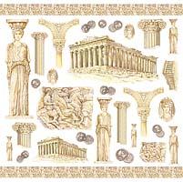 Салфетка рисовая для декупажа «ДревняяГреция»