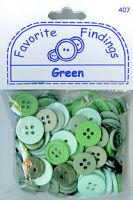 Набор пуговиц «Зеленые»