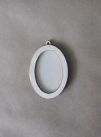 Рамка-медальон овальная №1
