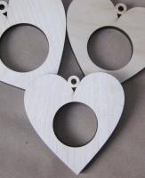 Рамка-медальон сердечко №3
