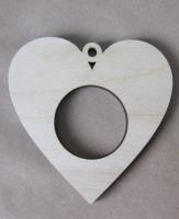 Рамка-медальон сердечко №5