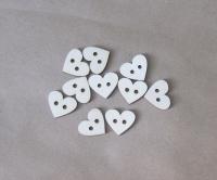 Набор деревянных пуговиц «Сердечки маленькие»