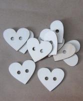 Набор деревянных пуговиц «Сердечки большие»