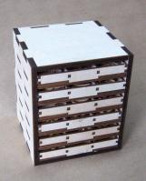 Шкафчик с полочками для чипборда
