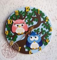 Часы «Совушки» ручная роспись