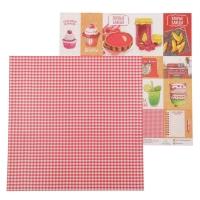 Бумага для скрапбукинга Карточки «Кулинарная книга»