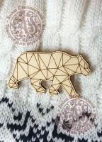 Заготовка «Медведь» значок