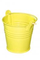 Декоративное металлическое ведерко желтое