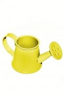 Декоративная металлическая леечка желтая