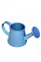 Декоративная металлическая леечка голубая