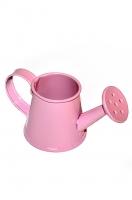 Декоративная металлическая леечка розовая