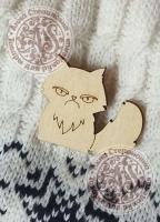 Заготовка «Угрмый кот» значок