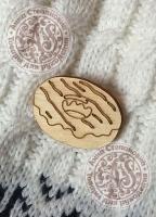 Заготовка «Пончик с шоколадом» значок