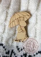Заготовка «Муми-тролль с зонтом» значок