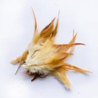Перья коричневые натуральные