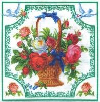 Салфетка «Корзина с розами» №755