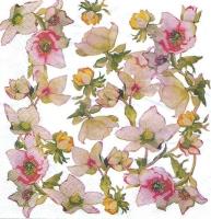 Салфетка «Яблоневый цвет. Винтаж» №762