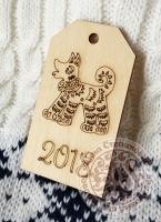 Подвеска новогодняя «Бирка №1038» собака