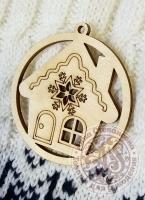Подвеска новогодняя «Пряничный дом»
