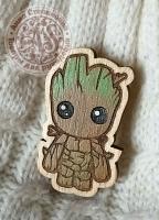 Значок «Грут» деревянный