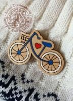 Значок «Велосипед» деревянный