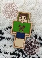 Значок «Майнкрафт. Игрок» деревянный
