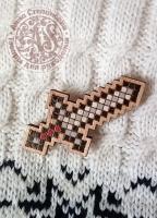 Значок «Майнкрафт. Меч» деревянный