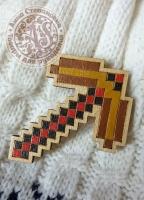 Значок «Майнкрафт. Кирка» деревянный