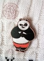 Значок «Кунг-фу панда. По» деревянный