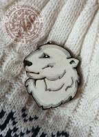 Значок «Полярный медведь» деревянный