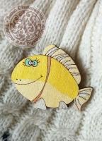 Значок «Большая рыба» деревянный