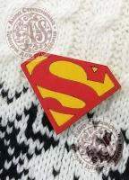 Значок «Супермен» деревянный