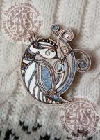 Значок «Красивая птица» деревянный