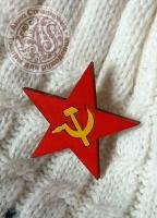 Значок «Советская звезда» деревянный