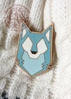 Значок «Волк» деревянный