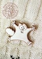 Значок «Ёшкин кот» деревянный