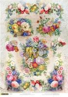 Рисовая карта «Любимые цветы»