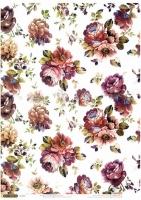 Рисовая карта «Винтажные цветы»