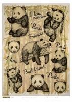 Рисовая карта «Мягкие панды»
