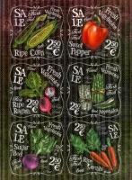 Рисовая карта «Свежие овощи»