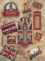 Рисовая карта «Символы Лондона»