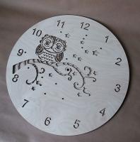 Декоративные часы Совёнок